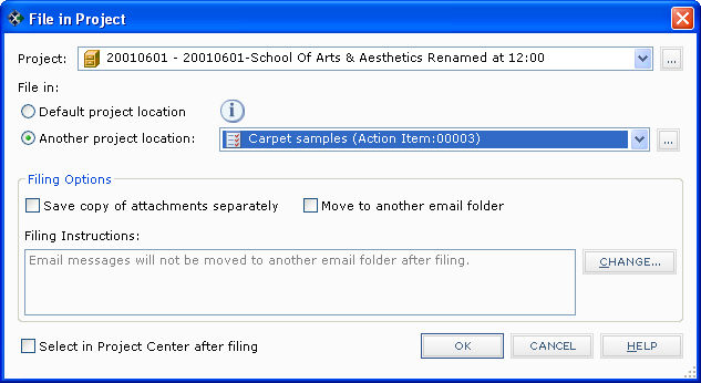 how to stop actoin items in outlook